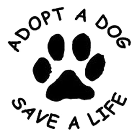Adopt a Dog Paw Print  Car Decal - I Love Cat Socks