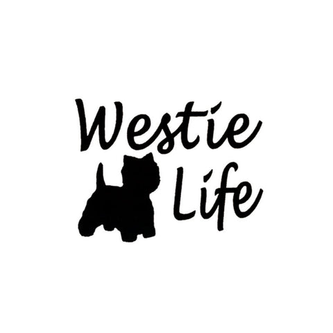 Image of Westie Car Decal - I Love Cat Socks - 1