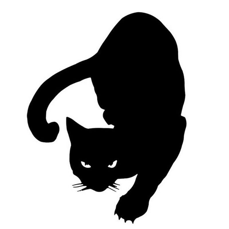 Hunting Cat Car Decal