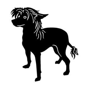 Chinese Crested Dog Classic Car Decal