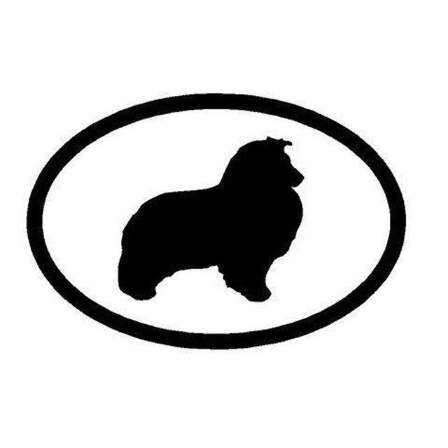 Sheltie Dog Inside The Circle Car Decal
