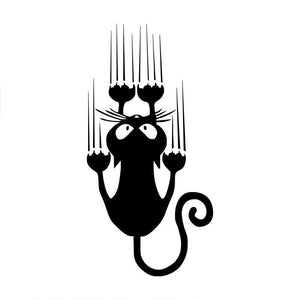 Hanging Cat Car Decal