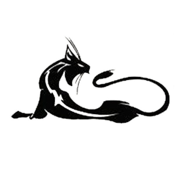 Wild Cool Cat Car Decal