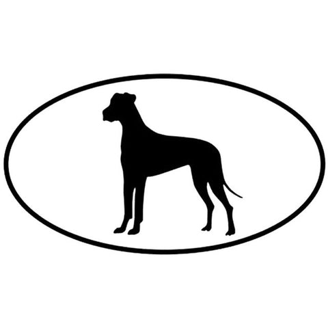 Great Dane Dog Inside The Circle Car Decal