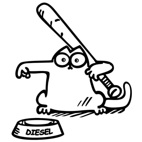 Simon Cat Car Fuel Lid Decal - I Love Cat Socks