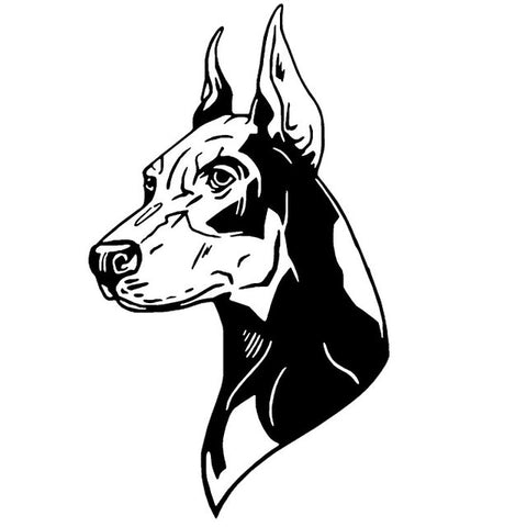 Dobermann Pinscher's Head Car Decal - I Love Cat Socks