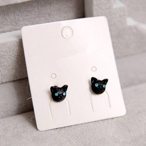 Vintage Lovely Cat Head Stud Earring