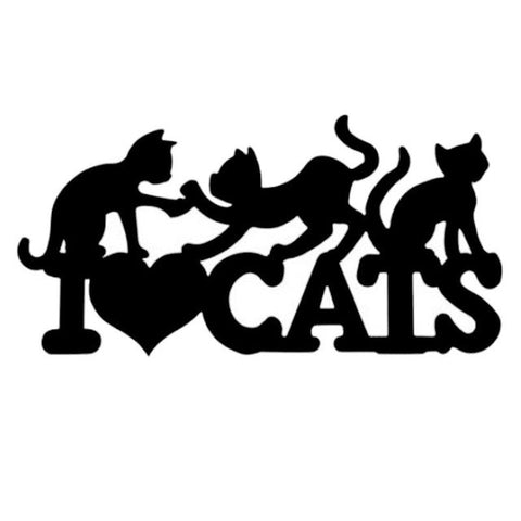 Image of I Love Cats Car Decal