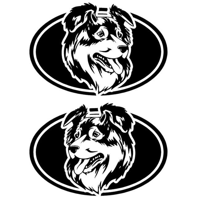 Australian Shepherd's Head Car Decal