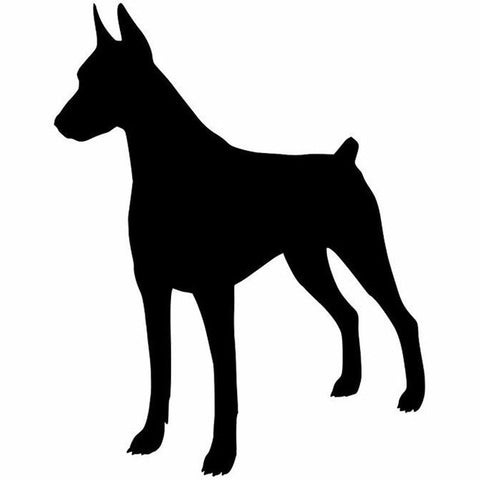 Image of Doberman Silhouette Car Decal - I Love Cat Socks