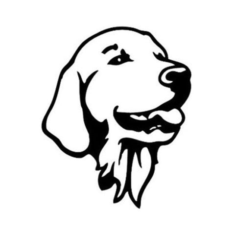 Image of Golden Retriever Head Car Decal