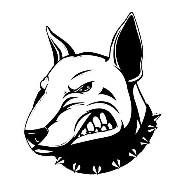 Angry Bull-terrier Dog Car Decal - I Love Cat Socks