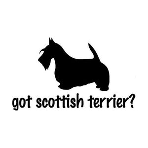 Got Scottish Terrier Car Decal