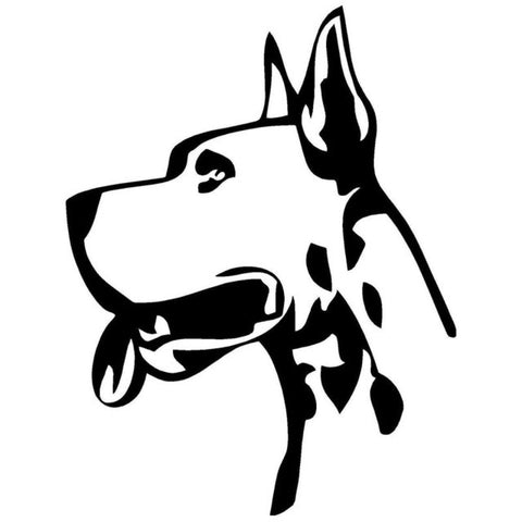 Image of Great Dane Head Car Decal