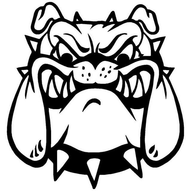 Angry English Bulldog Car Decal