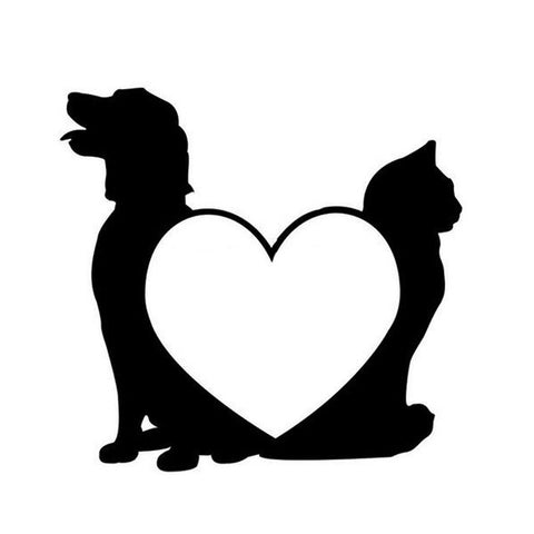 Image of Cat and Dog Car Decal - I Love Cat Socks