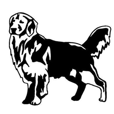 Image of Golden Retriever Dog Car Decal