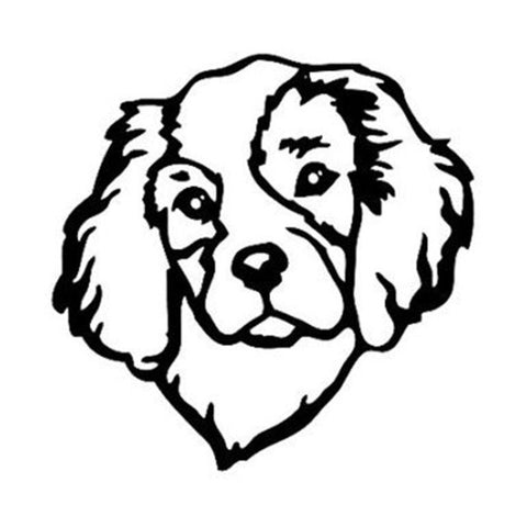 Cavalier Head Dog Car Decal - I Love Cat Socks