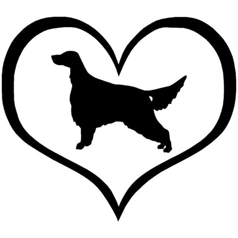 Image of Irish Setter Love Heart Car Decal