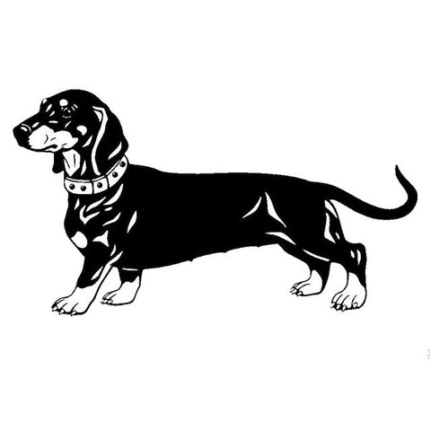 Image of Detailed Dachshund Dog Car Decal - I Love Cat Socks