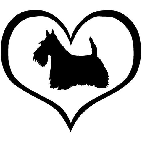 Love Scottie Car Decal