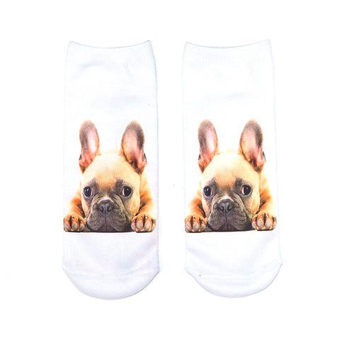 3D Dog Ankle Socks - I Love Cat Socks