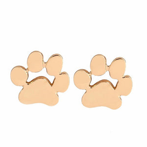 Dog Paw Print Stud Earrings - I Love Cat Socks