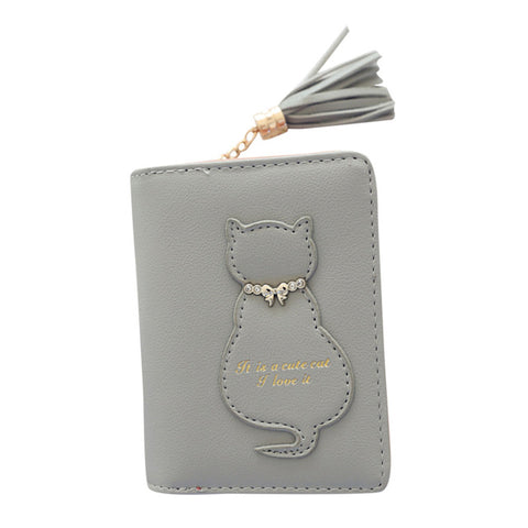 Image of Cat Tassel Clutches Wallet - I Love Cat Socks