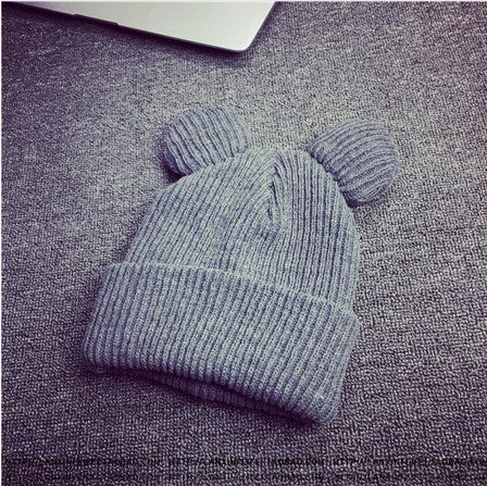 Image of Winter Knitted  Cat Ears Beanie