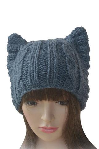 Handmade Cat Ears Knitted Hat