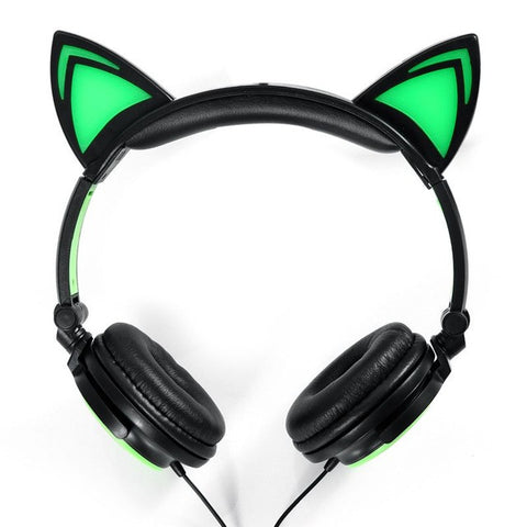 Glowing Cat Ears Headphones