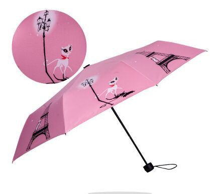 Cat In Paris Design Umbrella - I Love Cat Socks