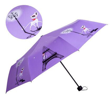 Image of Cat In Paris Design Umbrella - I Love Cat Socks