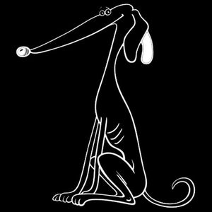 Greyhound Funny Car Decal