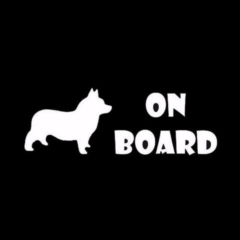 Image of Corgi On Board Car Decal - I Love Cat Socks