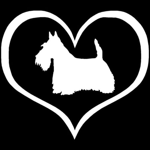 Image of Love Scottie Car Decal