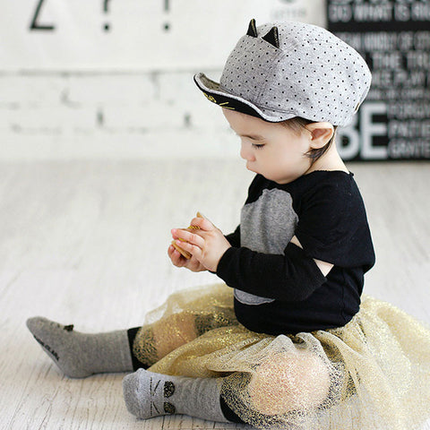 Cat Ears Toddler Cap - I Love Cat Socks
