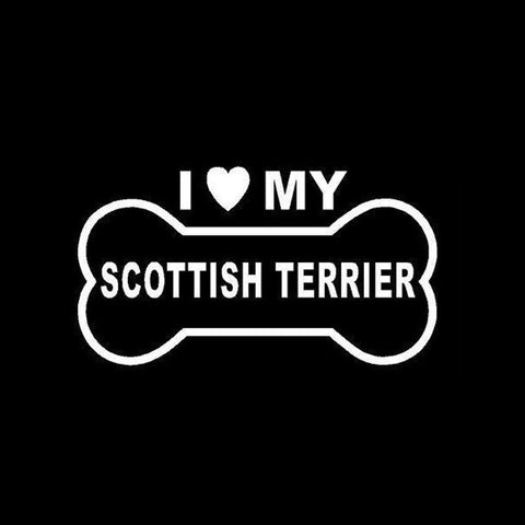 Image of I Love My Scottish Terrier Car Decal