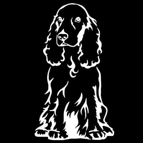 Image of Cocker Spaniel Dog Car Decal - I Love Cat Socks