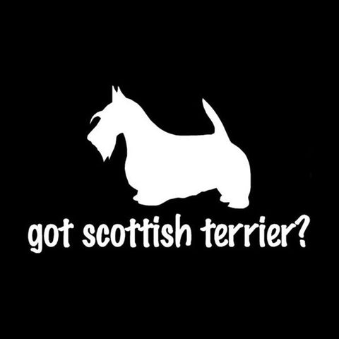 Image of Got Scottish Terrier Car Decal