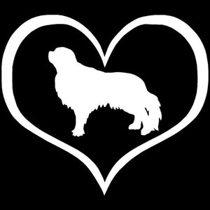 English Toy Spaniel Heart Car Decal