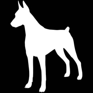 Doberman Silhouette Car Decal