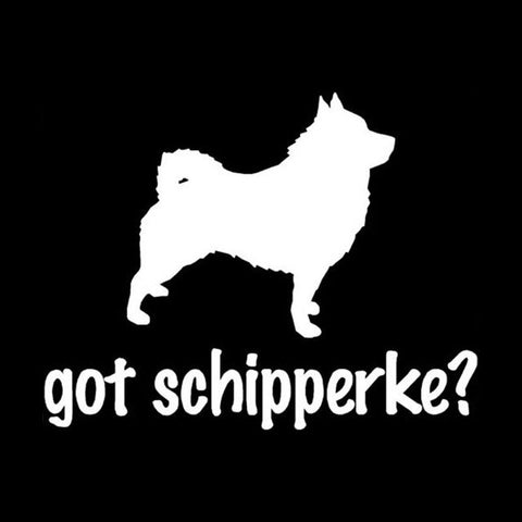 Image of Got Schipperke Car Decal
