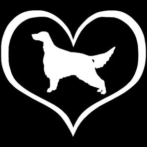 Irish Setter Love Heart Car Decal