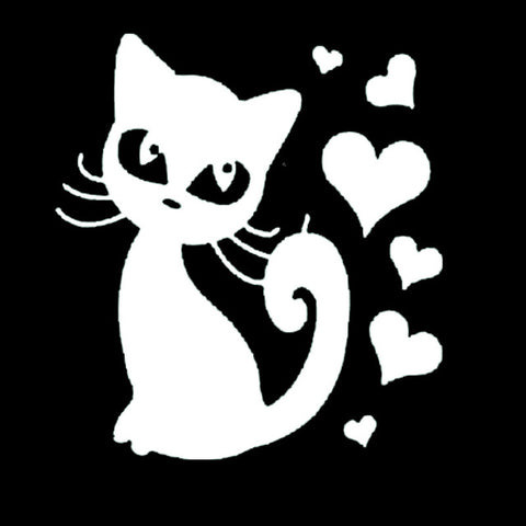 Image of Cat With Love Animal Vinyl Car Decal - I Love Cat Socks