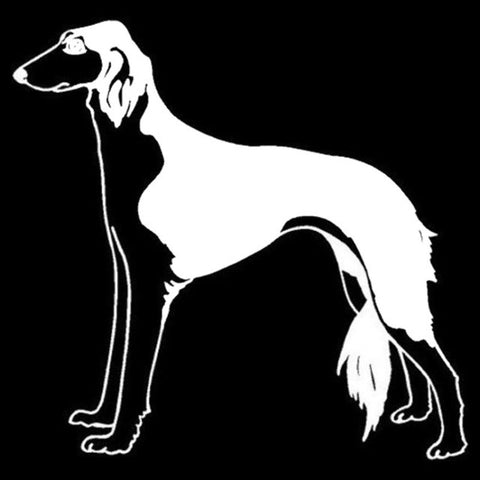 Image of Saluki Classic Car Decal