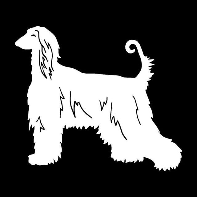 Afghan Hound Lovely Classic Car Sticker. - I Love Cat Socks