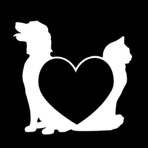 Cat and Dog Car Decal