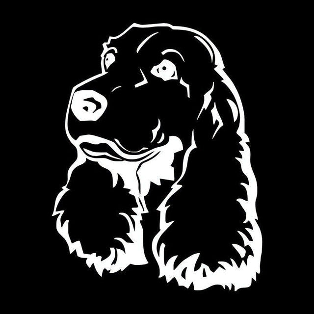 Cocker Spaniel Car Decal - I Love Cat Socks