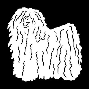 Hungarian Puli Dog  Car Decal
